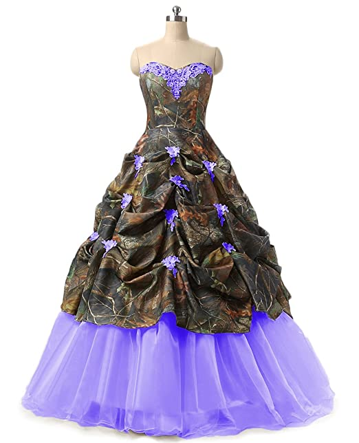 Chupeng Womens Appliques Camouflage Wedding Bridal Dresses Prom