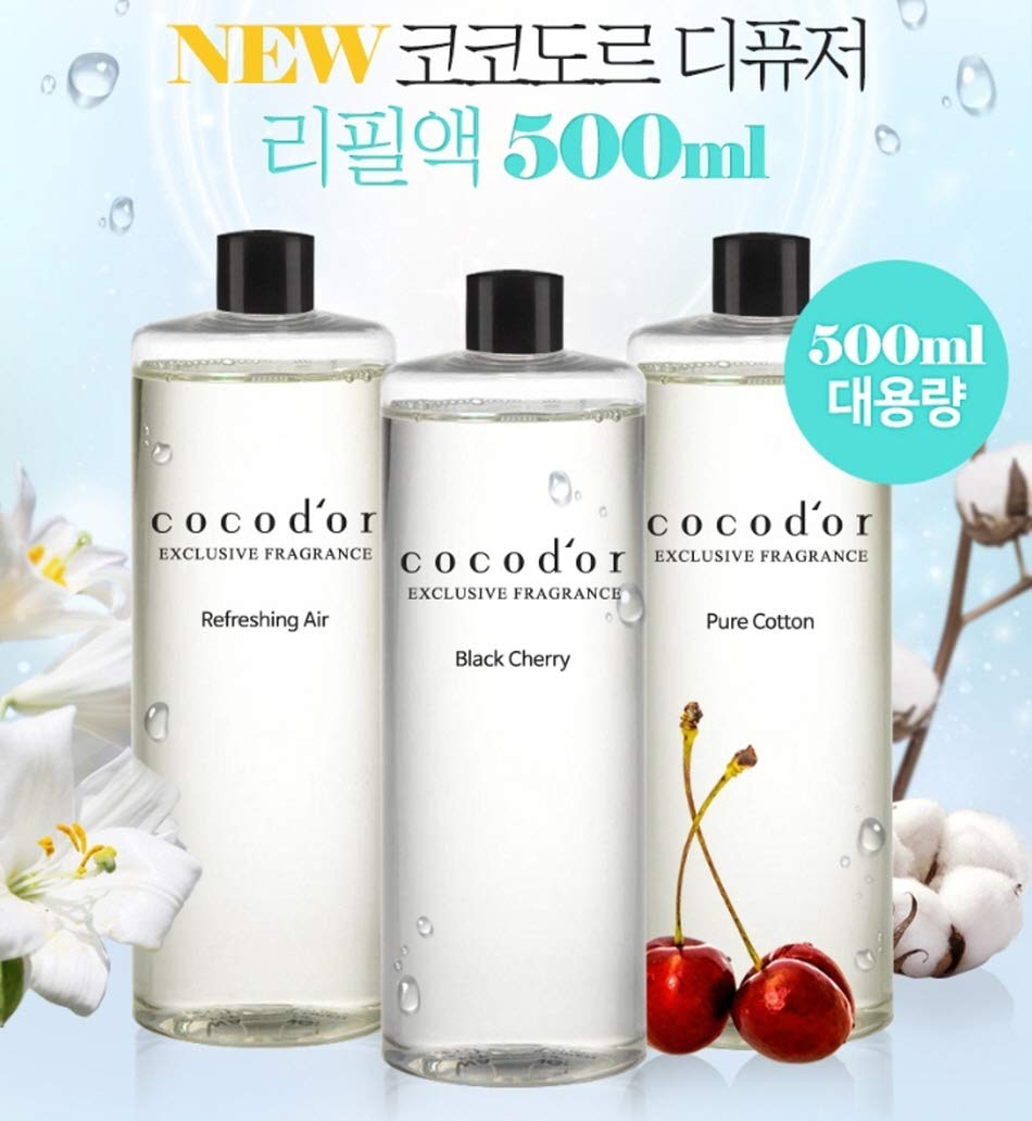Cocod'or Reed Diffuser Oil Refill/Black Cherry/Large Capacity 500ml X 2P by Cocod'or (Image #2)