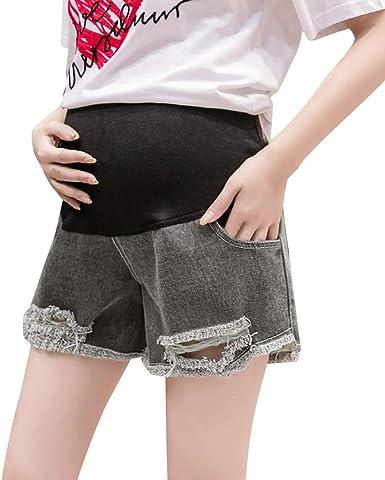 Premaman Pantaloni Corti Skinny Regolabili Denim Elasticit/à maternit/à Pantaloncini Prenatal Maternity Gravidanza Casual Premaman Abbigliamento Jeans Corti Vita Alta
