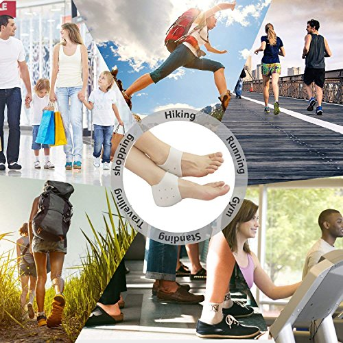 Amazon.com: AnHua 2 Pairs Silicone Gel Heel Sleeves,Heel ...