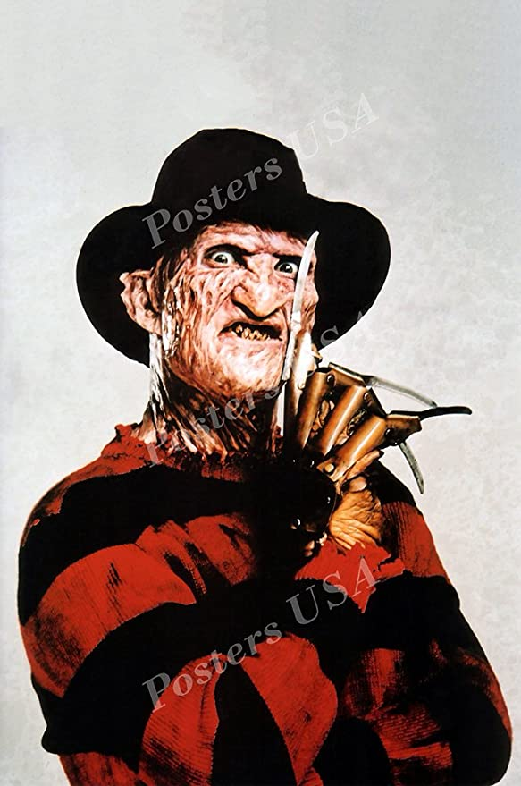 Freddy Krueger Nightmare On Elm Street Poster BOX CANVAS Art Print Black /& White