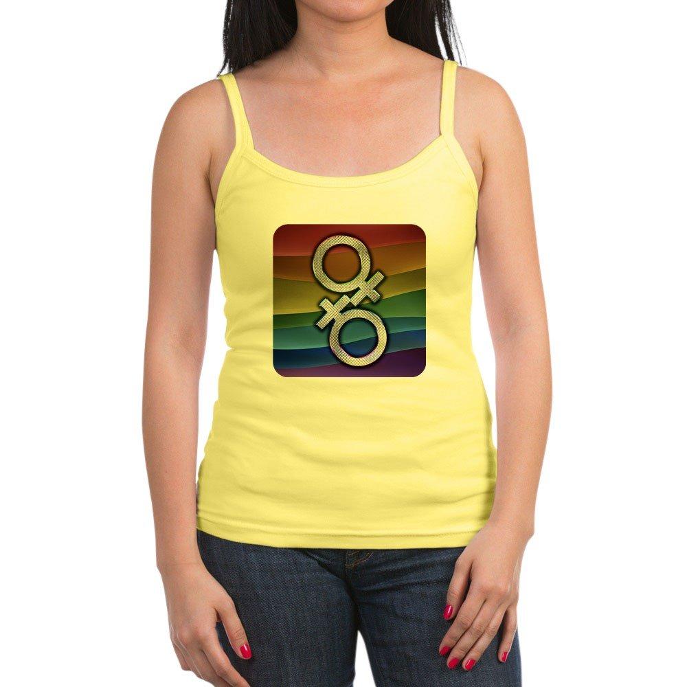 Royal Lion Jr Spaghetti Tank Gay Pride Flag Female Symbols