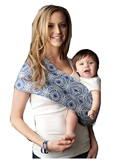 8e4f0c068f4 Amazon.com   Seven Everyday Slings Baby Carrier Sling Color Blue Grey Sonic Size  4 Medium   Child Carrier Slings   Baby