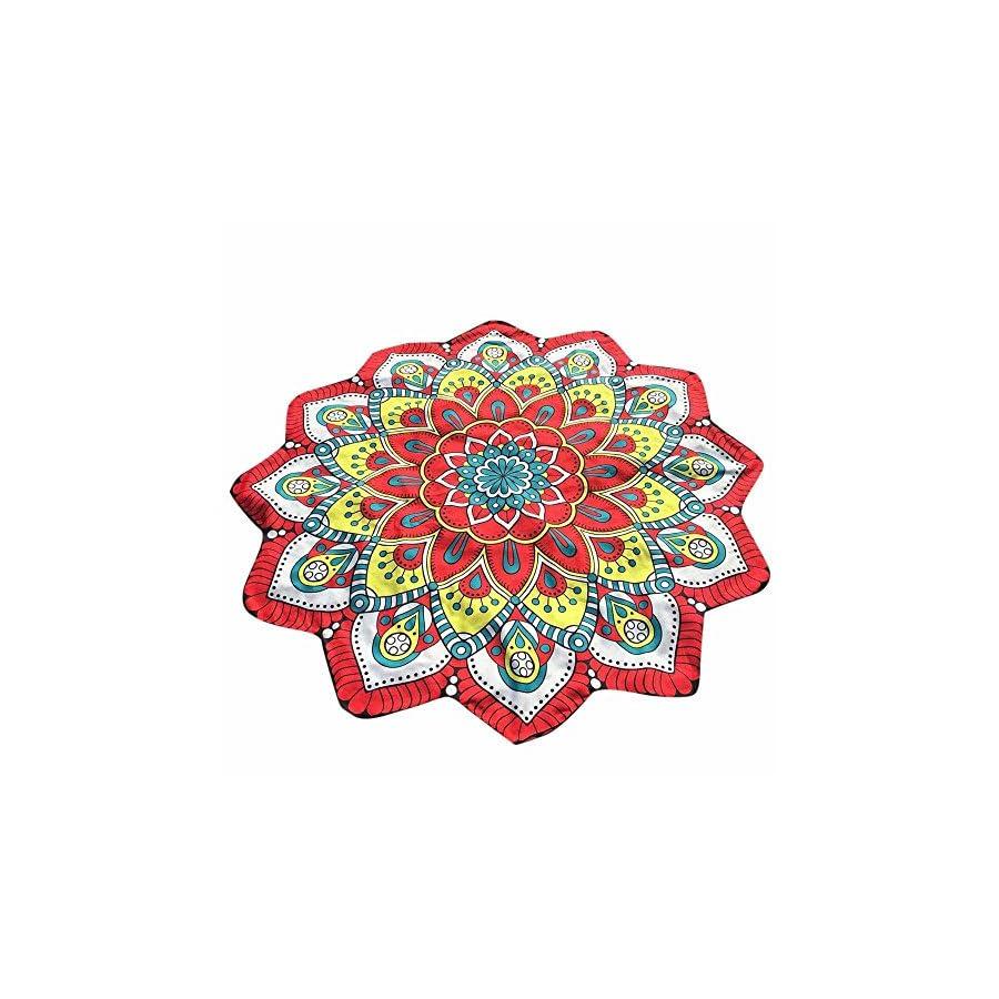 Tapestry Yoga Mat Doinshop Bohemian Lotus Hippie Shape Tassel Flowers Beach Cushion Towel