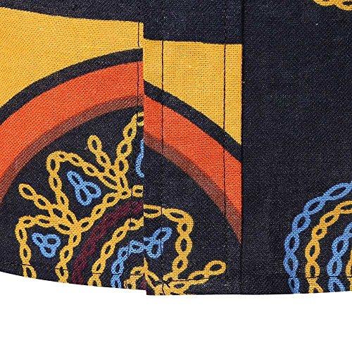 Farjing Men's Blouse Men's Summer Casual Slim Long Sleeve Printed Shirt Top Blouse(2XL,Black by Farjing (Image #4)