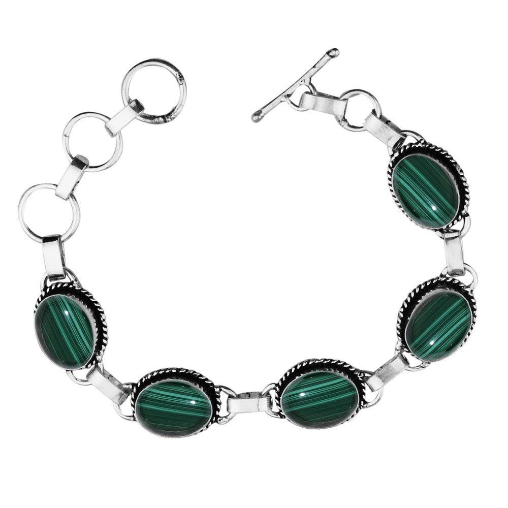 11.50Gms,7.80 Ctw Genuine Gemstone 925 Sterling Silver Overlay Handmade Fashion Bracelet Jewelry Sterling Silver Jewelry SJH-b033MLC