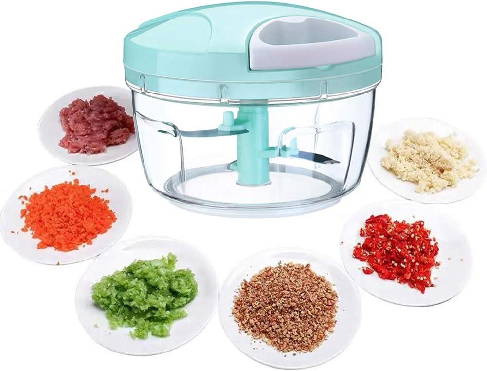 Manual Food Chopper, Hand Pull Onion Chopper, Handheld String Food Processor for Veggie, Garlic, Meat, Salsa Maker