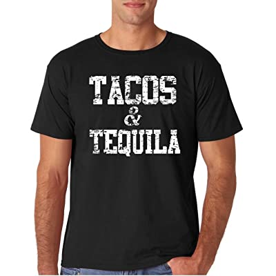 12.99 Prime Tees Adult Tacos & Tequila T Shirt 2X-Large Black | .com