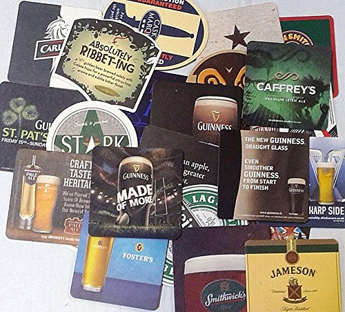 set of 25 cardboard beer mats (Beer Mats)