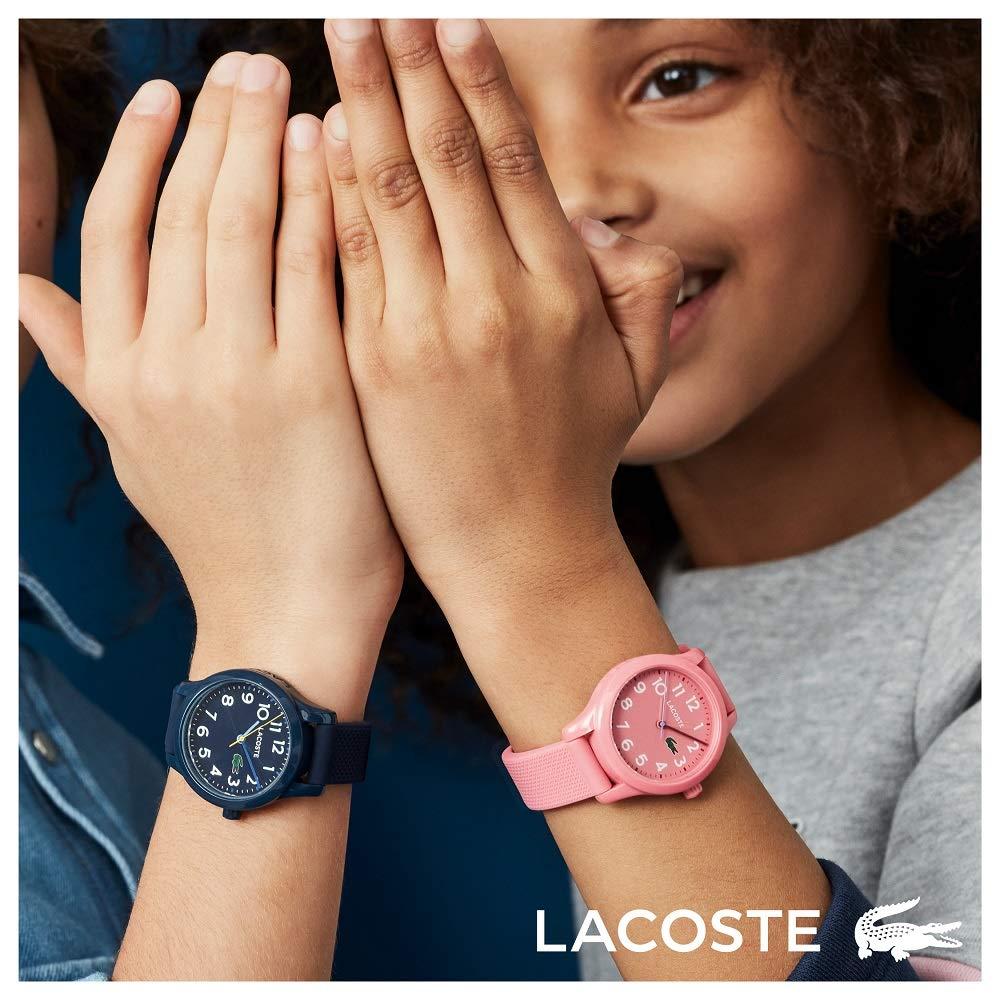 Lacoste Kids Lacoste.12.12 Kids Quartz TR-90 and Rubber Strap Casual Watch, Color: Blue (Model: 2030002)