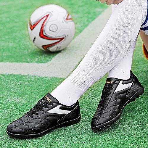 男の子のためのサッカーシューズTFフラットネイル、セメントフロアトレーニングシューズ、人工グラススパイク、あなたのアイドルでサッカーをする