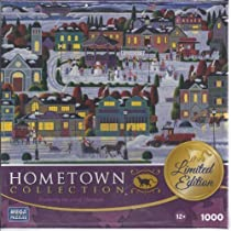 Hometown Collection Limited Edition 1000 Piece Puzzle Featuring the Art of Heronim - Best of Snow by Mega Puzzles