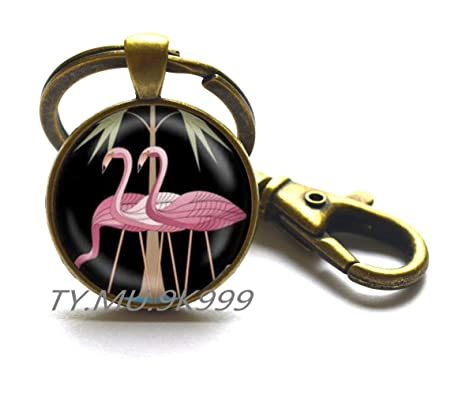 Amazon.com: Flamenco rosa llavero Florida Flamingo llavero ...