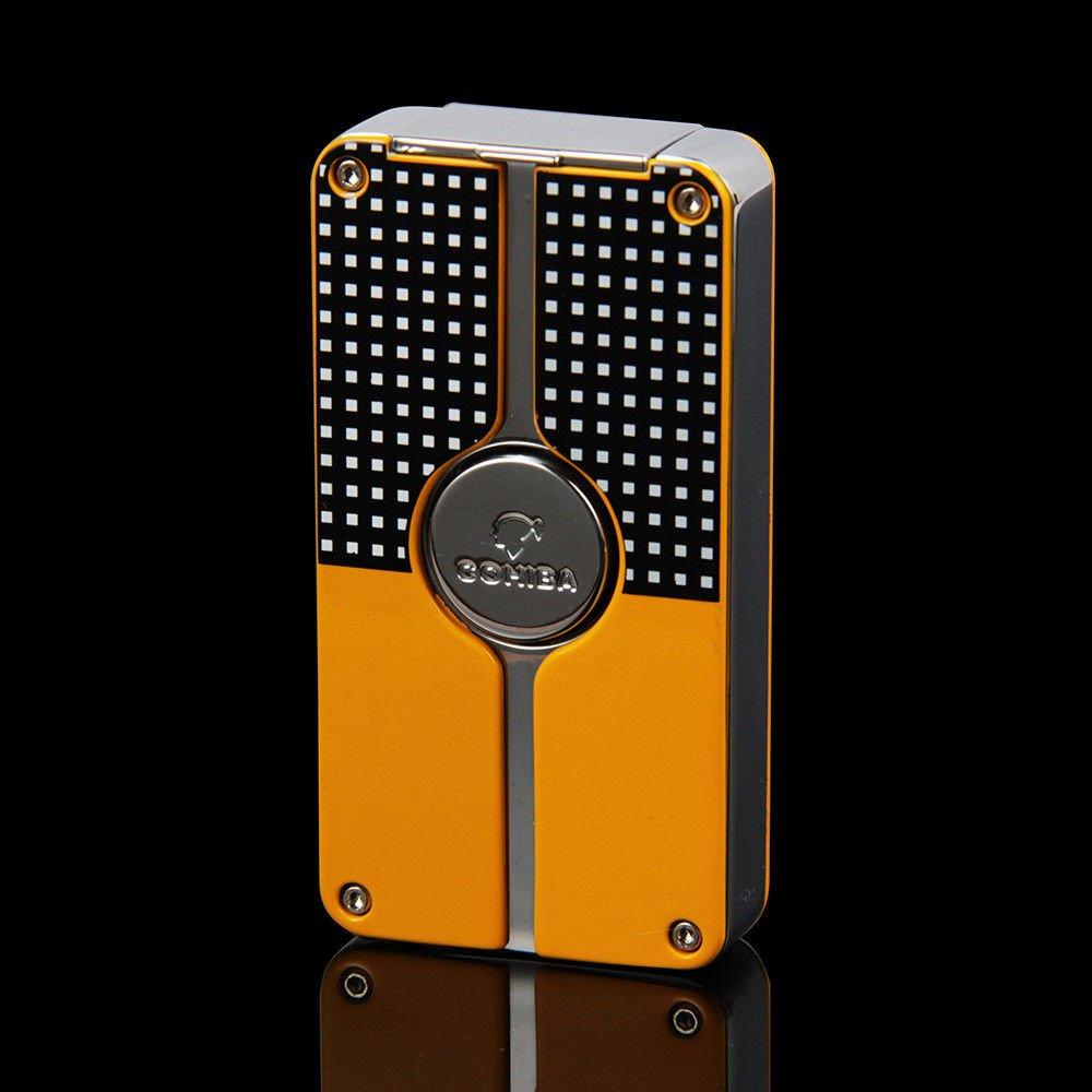 COHIBA/喫煙具/葉巻/シガーライター/COHIBA Yellow Finish Classic Torch Jet Flame Cigar Lighter W/Punch New Design B0778GCWSC