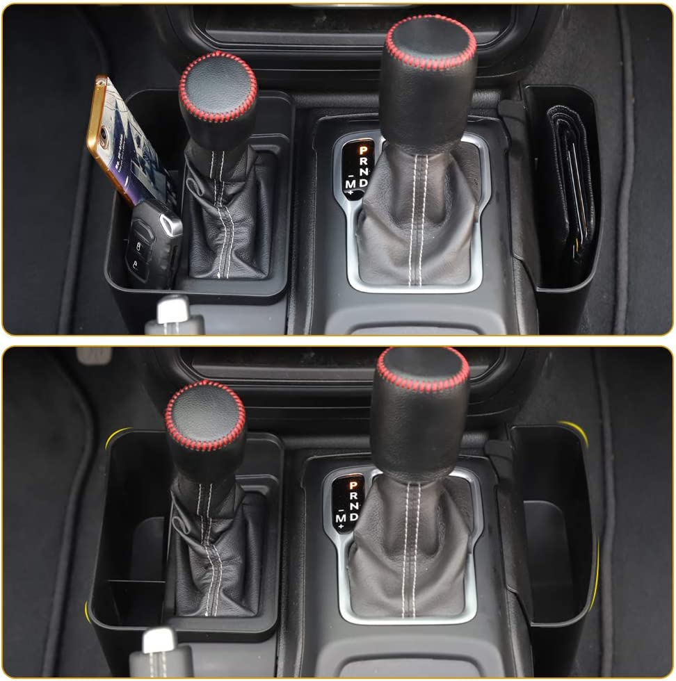 Savadicar JL GearTray Gear Shift Console Side Storage Box Auto Transmission Side Organizer Tray for 2018-2020 Jeep Wrangler JL JLU /& 2020 Jeep Gladiator JT Interior Accessories Black
