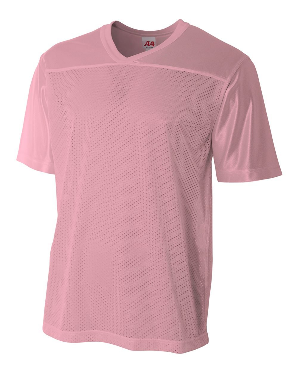 Adult Pink 2X (Blank Back) Moisture Wicking V-Neck Football Jersey