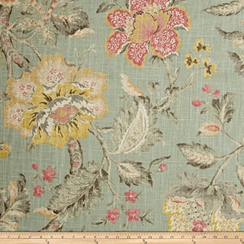 P Kaufmann Secret Garden Linen Fabric, Powder, used for sale  Delivered anywhere in USA