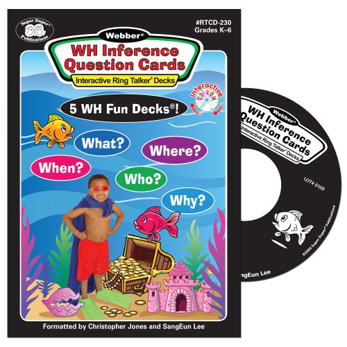 """""""WH"""" Inference Question Cards Interactive Software - Super Duper Educational Learning Toy for Kids"""