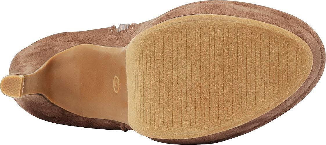 Cambridge Select Womens O-Ring Stiletto Platform High Heel Knee-High Boot