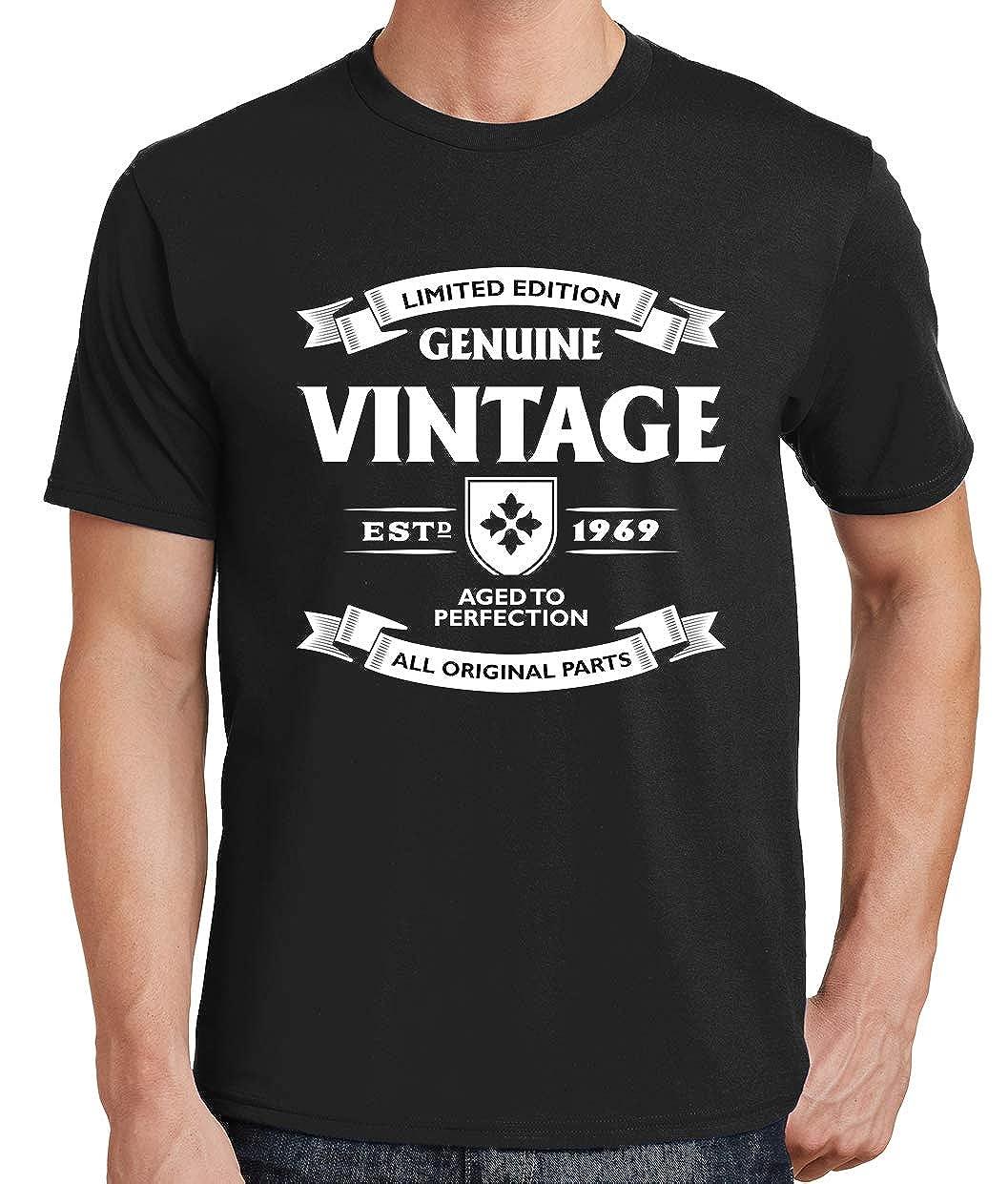 Tenacitee Mens Aged to Perfection 1969 T-Shirt