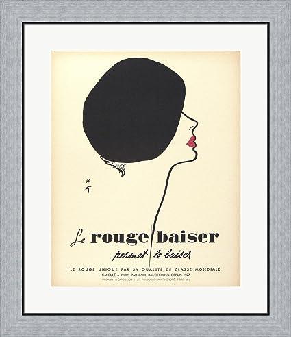 Amazon.com: Le Rouge Baiser by Vintage Apple Collection Framed Art ...