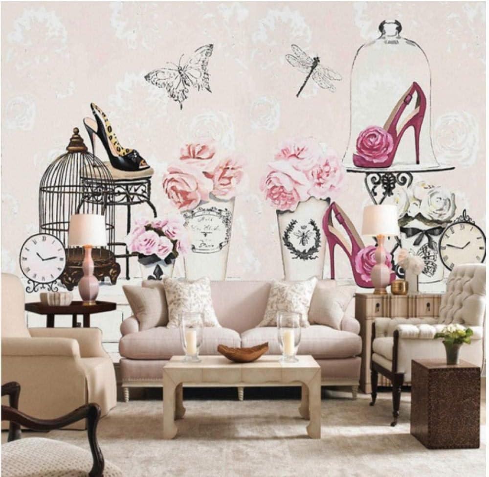 Pbldb Wallpaper 10D Makeup Table Flower High Heels Wallpaper Living ...