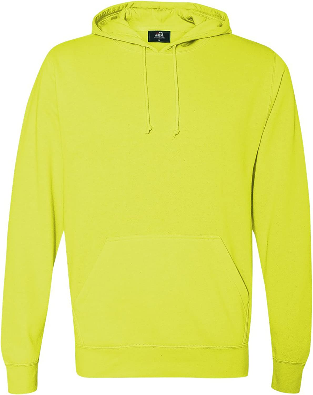 Neon Yellow J America Adult Cloud Fleece Pullover Hood