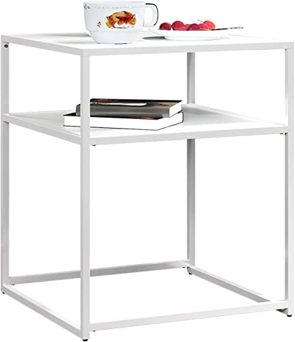 HOMEFORT Square Side Table,20 Inch End Table
