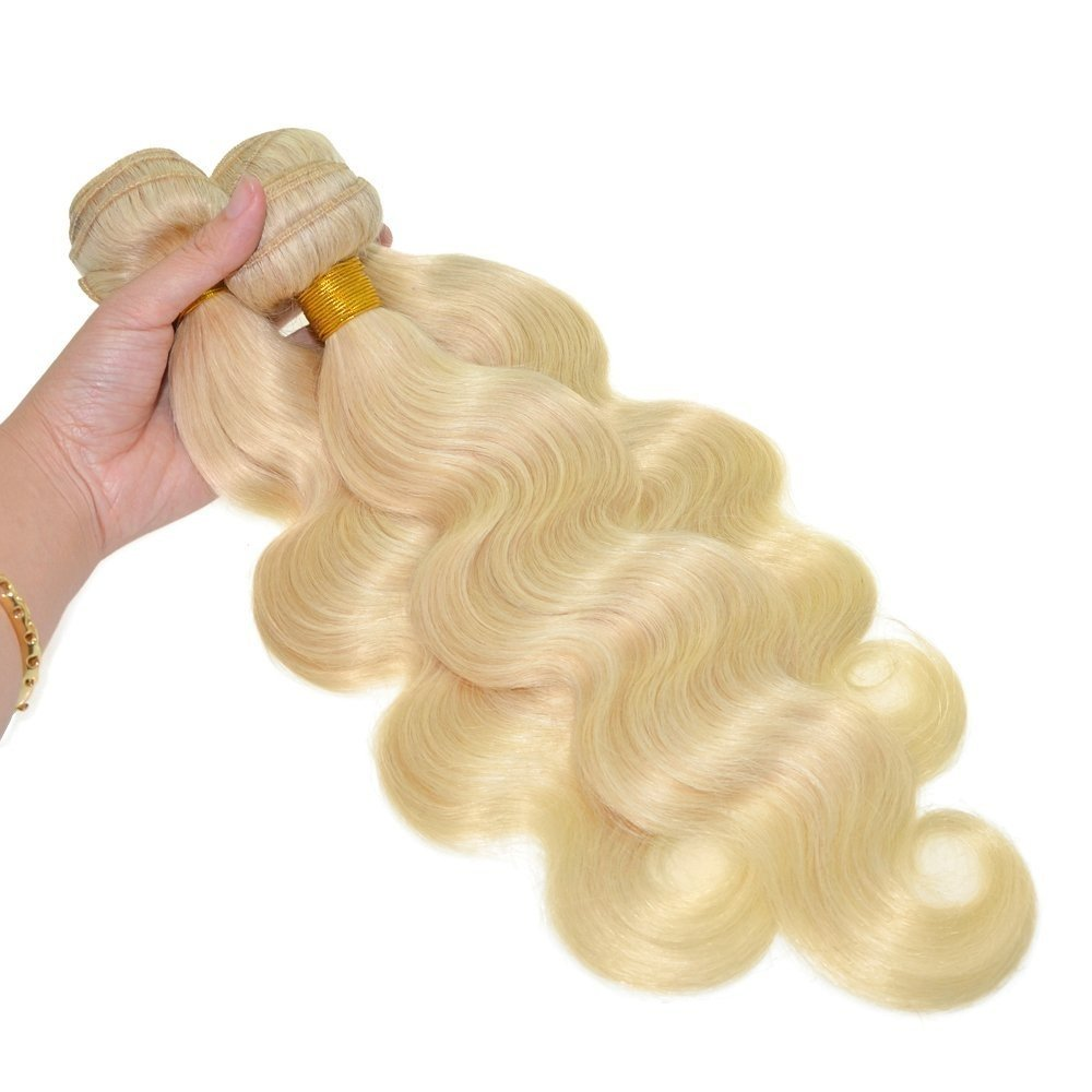 Grade 6a Blonde Hair Weave 613# Color Hair Extension Brazilian Body Wave Blonde Hair Bundles Remy Hair Blonde (30inches) by Palfashion (Image #1)