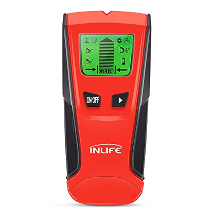 INLIFE Stud Finder Electric Wall Detector 3 IN 1 Multi-Scanner with Digital LCD Display, Center Finding Stud Sensor for Wood, Metal, Stud, ...