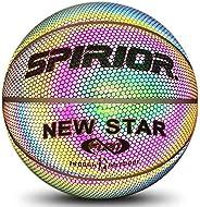 Light Up Basketball, Holographic Glowing Reflective Basketball, Luminous Basketball, Glow in The Dark Basketba