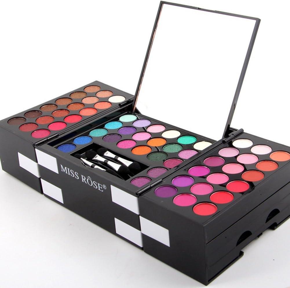 Pu Ran 142 - Juego de 3 sombras de ojos para colorete, sombra de ojos, juego de cosméticos: Amazon.es: Belleza