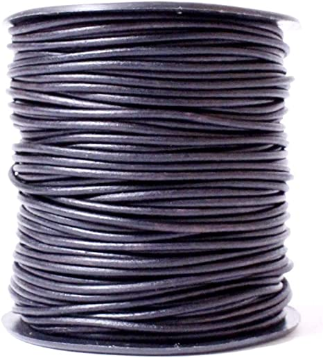 02 Black Genuine Leather 10 Meter Leather Cord USA Premium Round Leather Cord Splice Free Ideal for Jewelry 11 yd 1.5mm Spool