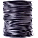 10 Feet Navy Blue Leather Cord for Necklaces or Bracelets 2mm Wide BULK Round