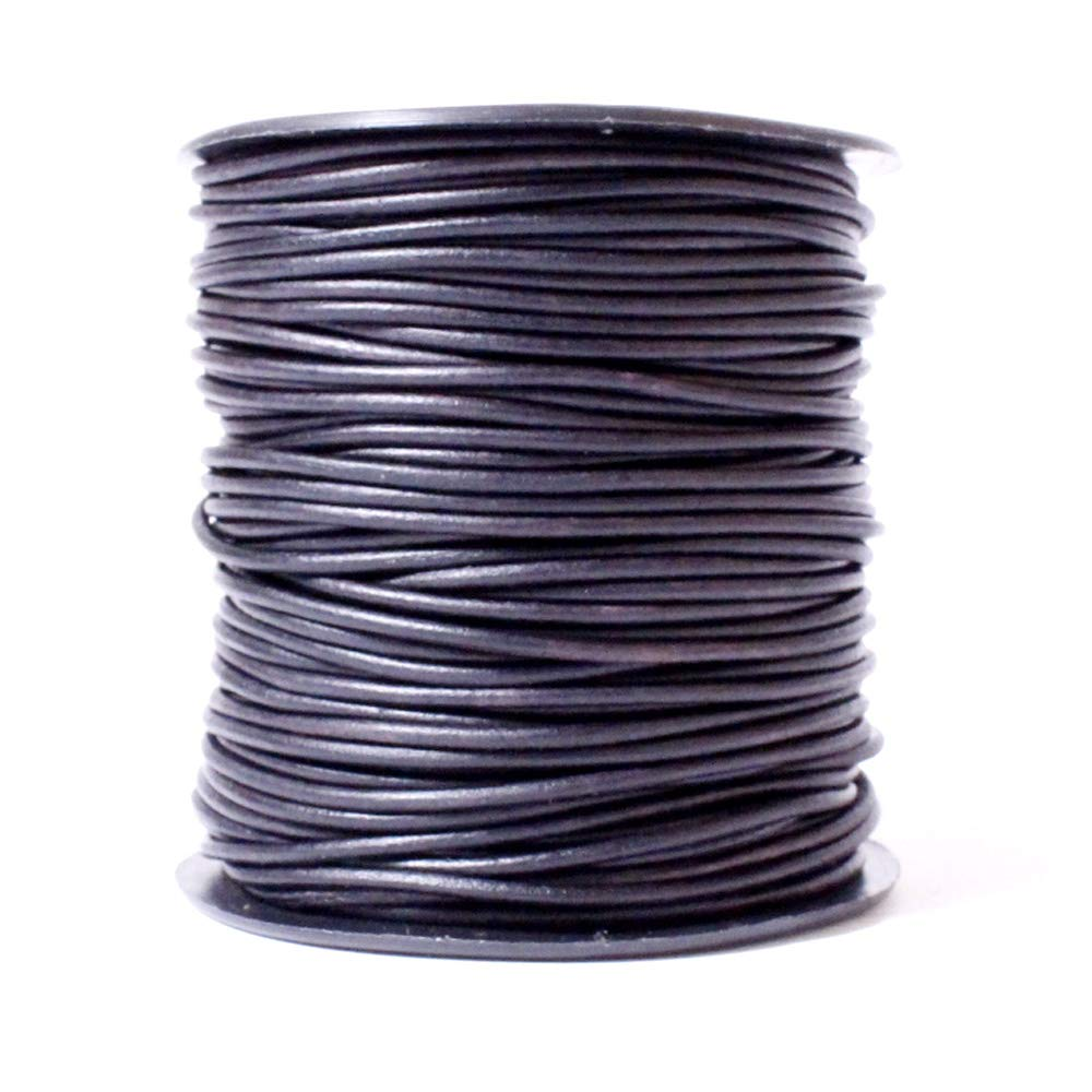 10 Meter 424 Natural Grey Leather Cord USA Premium Round Leather Cord Splice Free Ideal for Jewelry 1mm Genuine Leather Spool 11 yd