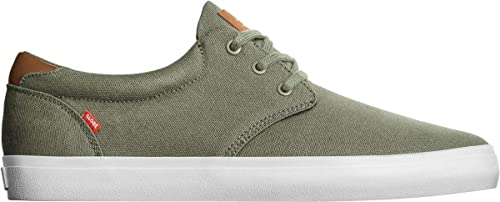 Globe Willow, Zapatillas de Skateboarding para Hombre, Verde (Burnt Olive Canvas 0)