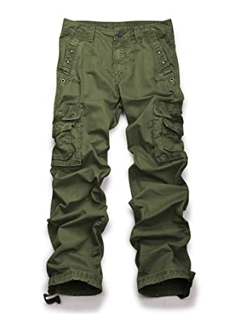 1b81cb088cfa95 Men's Casual Active Military Cargo Camouflage Combat Pants Trousers Army  Green 29