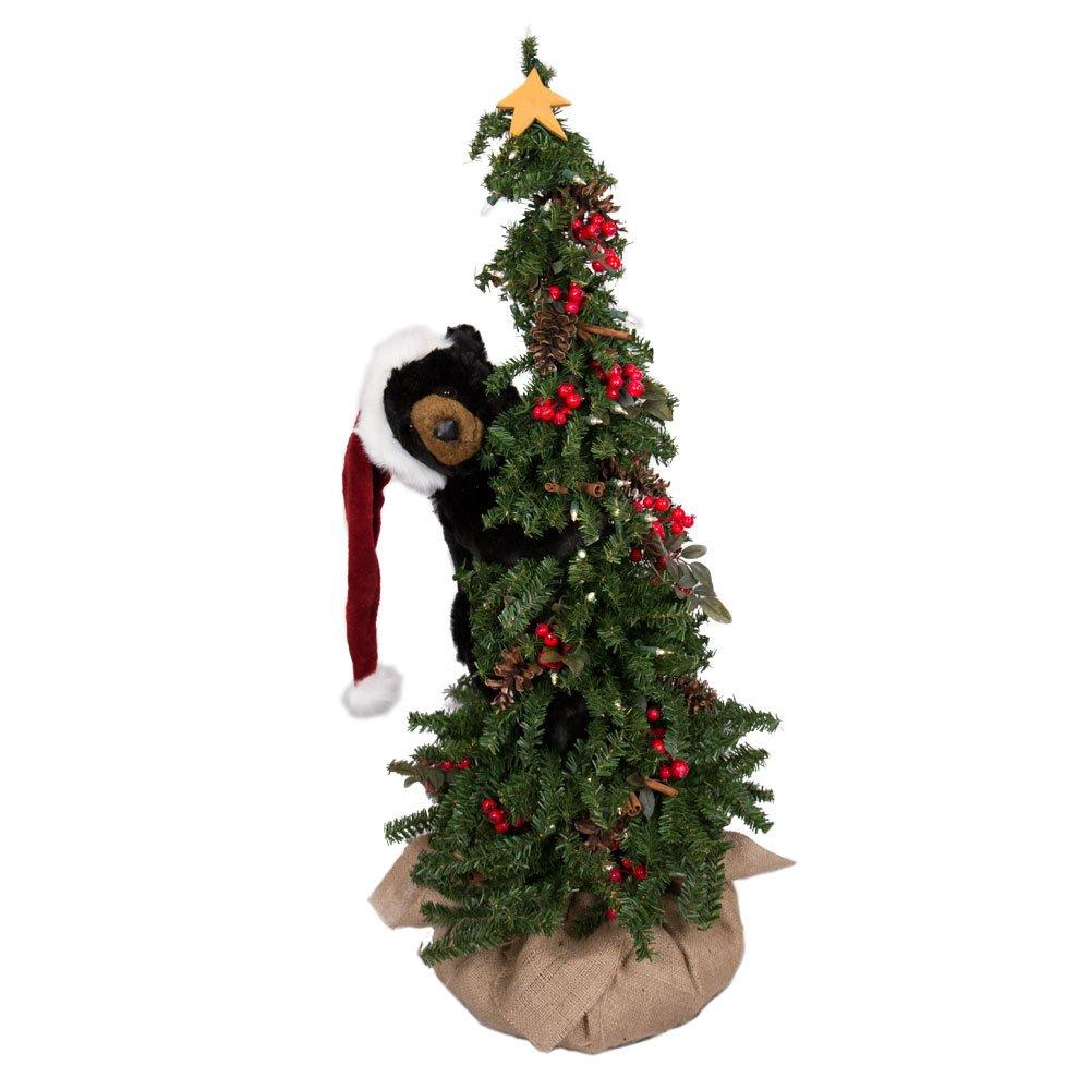 Ditz Designs Climbing Christmas Tree Black Bear 40''