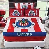 Chivas Guadalajara Futbol Soccer Cobertor Sarape Individual Borrega Colcha Ninos Cojin 1pc Pelicula Decoracion Recamara Regalo EDICION LIMITADA