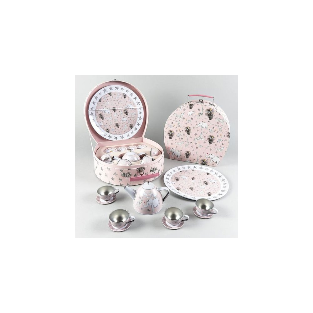 Party Animal 11 Piece Tin Tea Set