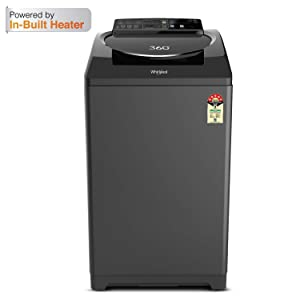 Whirlpool 12 kg 5 Star Fully-Automatic Top Loading Washing Machine with In-Built Heater (360° ULTIMATE CARE 12.0, Graphite)