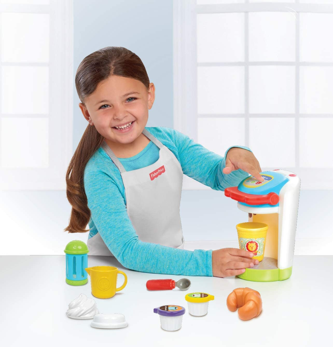 Amazon Com Fisher Price Coffee Maker Set Multicolor Toys Games