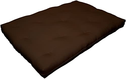 Milton Greens Stars 6-Inch Replacement Futon Pad, Full, Dark Brown
