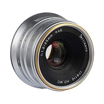 Gazechimp Lente Ultra Gran Angular F1.8 de 25 mm para Cámara para ...