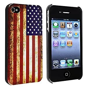 jhgnbhgcd-1898 Vintage US American Flag Hard Plastic Case For iPhone 4 & 4S, Halloween Gift