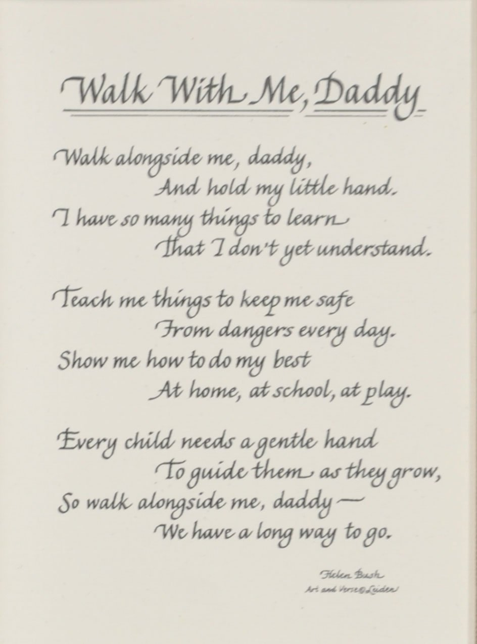 image about Walk With Me Daddy Poem Printable named All Factors for Mother Wander with me Daddy Poem Visualize Body