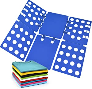 Geniusidea V1 Shirt Folding Board Clothes Folder t Shirts Clothes Folder Durable Plastic Laundry folders Folding Boards flipfold