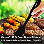 WALFOS Premium Silicone Basting Pastry Brush Set - High Heat Resistant Nonstick Silicone Brush for Baking,Cooking & Grilling - Strong Stainless Steel Core Design (2-Piece Set) - BPA Free & Food Grade 13 Safe and Durable - We are the only owner of Brand WALFOS. Please avoid purchasing from other sellers with bad quality. Made of 100% FDA approved,BPA Free Silicon.100% Bristle-free which are safe, good for your health and easy on all of your cookware or BBQ.Non-staining and won't pick up food particles(unlike some wooden utensils). PREMIUM QUALITY DESIGN & HIGH HEAT RESISTANCE - Quick and effortless coating action. No more hassle with nylon bristles in your food! Withstand temperatures up to 446 °F (230 °C) during grilling or cooking. Won't melt, discolor or shrink, like some plastic nylon or wooden brushes. MULTI FUNCTIONAL FLEXIBILITY - You will get a 10 and 8.2 inch brush set . WALFOS Silicone basting & pastry Brush is useful in many applications, whether in the barbeque,kitchen, grilling, roasting, baking, or on a pan. Works great on a variety of foods, including meats, pastries, cakes, bread and much more! Marinade with oil, butter, sauces etc. Marinade and coat quickly on your food and less soaking in the brush.Dishwasher Safe and Easy to clean.