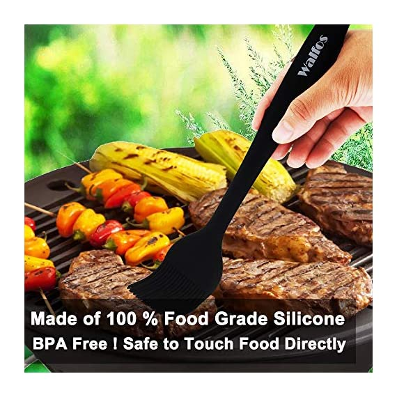 WALFOS Premium Silicone Basting Pastry Brush Set - High Heat Resistant Nonstick Silicone Brush for Baking,Cooking & Grilling - Strong Stainless Steel Core Design (2-Piece Set) - BPA Free & Food Grade 5 Safe and Durable - We are the only owner of Brand WALFOS. Please avoid purchasing from other sellers with bad quality. Made of 100% FDA approved,BPA Free Silicon.100% Bristle-free which are safe, good for your health and easy on all of your cookware or BBQ.Non-staining and won't pick up food particles(unlike some wooden utensils). PREMIUM QUALITY DESIGN & HIGH HEAT RESISTANCE - Quick and effortless coating action. No more hassle with nylon bristles in your food! Withstand temperatures up to 446 °F (230 °C) during grilling or cooking. Won't melt, discolor or shrink, like some plastic nylon or wooden brushes. MULTI FUNCTIONAL FLEXIBILITY - You will get a 10 and 8.2 inch brush set . WALFOS Silicone basting & pastry Brush is useful in many applications, whether in the barbeque,kitchen, grilling, roasting, baking, or on a pan. Works great on a variety of foods, including meats, pastries, cakes, bread and much more! Marinade with oil, butter, sauces etc. Marinade and coat quickly on your food and less soaking in the brush.Dishwasher Safe and Easy to clean.