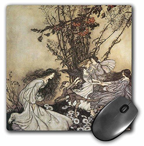 Dancing Collection Fairies (BLN Fairies Fine Art Collection - Dancing with the Fairies, Arthur Rackham Fantasy Fairy Painting - MousePad (mp_126292_1))